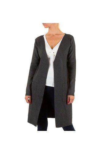 Markenlos Damen StrickJacke von Moewy Gr. one size - DK.grey