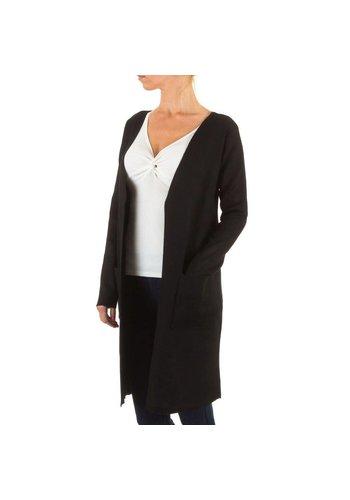 Markenlos Damen StrickJacke von Moewy Gr. one size - black
