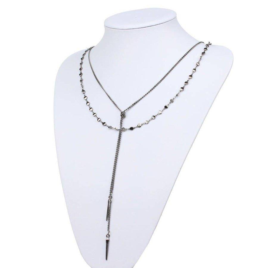 Damen Halskette - black