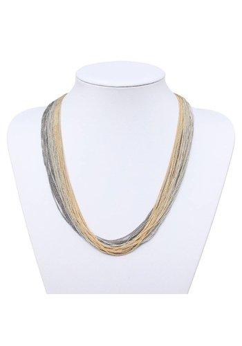 Neckermann Dames Halsketting - Goud Zilver