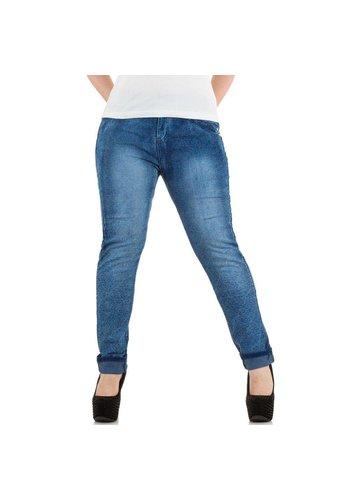 Markenlos Dames Jeans van Le Lys - blauw