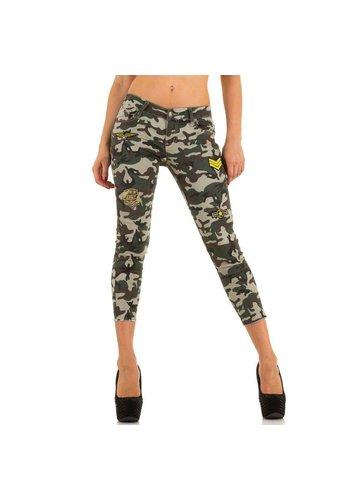 Markenlos Damen Jeans von Miss Rj - armygrey