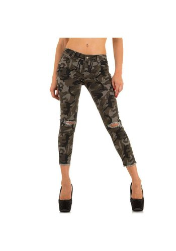 Markenlos Dames Jeans van Miss Rj - armygrey