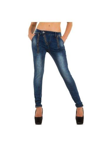 Markenlos Dames Jeans van Hello Miss - Blauw