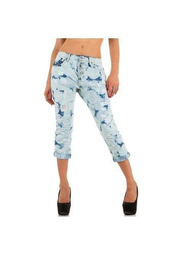 Markenlos Dames jeans Place du Jour lichtblauw
