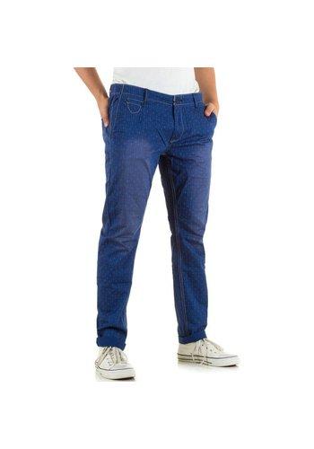 Markenlos Herren Jeans von X-3Hand - blau