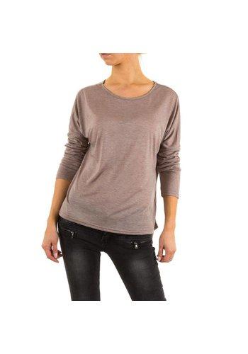 JCL Shirt pour femmes par  Jcl - taupe
