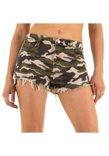 Laulia Dames Shorts van Laulia - Army Groen