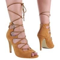 Damen Sandaletten - camel