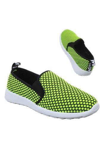 Neckermann Dames Sneakers - lemon groen