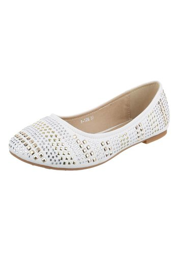JULIET Dames Ballerinas - Wit