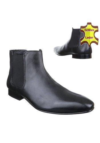Neckermann Chaussures pour hommes en cuir - noir