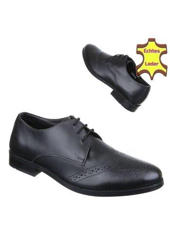 Neckermann Chaussures d'affaires pour hommes - cuir noir