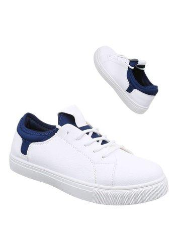 Neckermann Baskets pour femmes - Blanc et bleu foncé