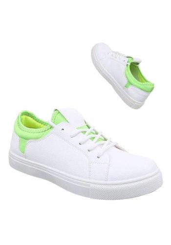 Neckermann Dames sneakers Wit Groen