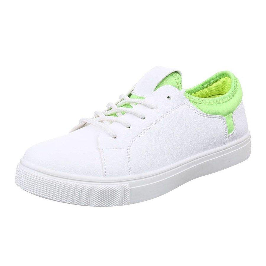 Baskets pour femmes - blanc et vert