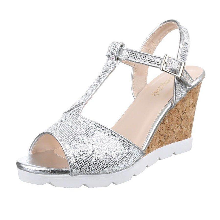 Damen Sandaletten - silver
