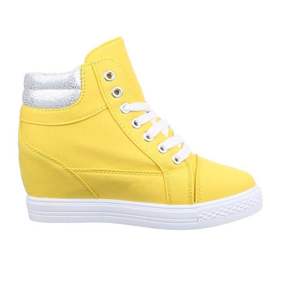 Baskets pour femmes - jaune