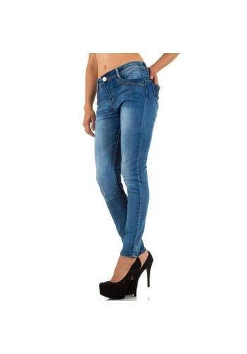 Ld style Damen Jeans von Ld Style - blue