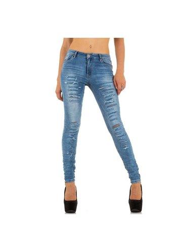 Smagli Dames Jeans van Smagli - Licht Blauw