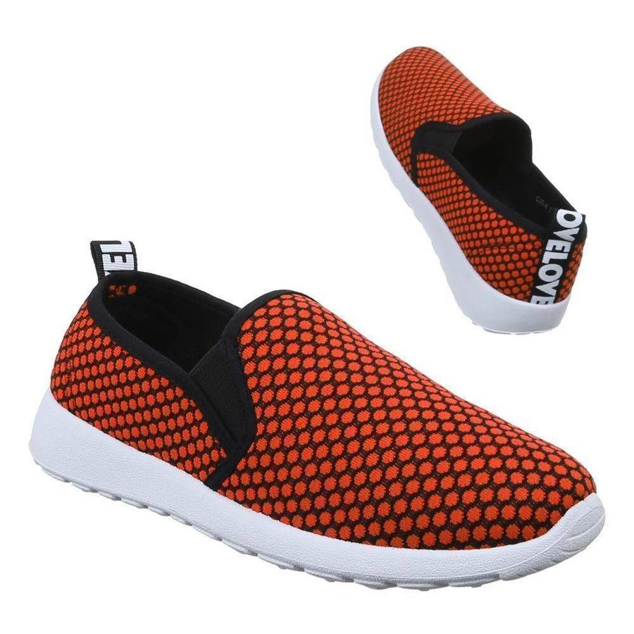 Baskets pour femmes   - orange