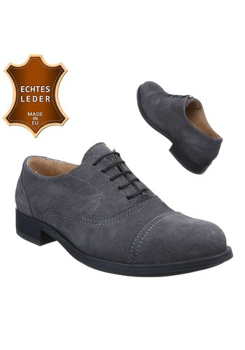 Neckermann Chaussures en cuir pour hommes- Gris