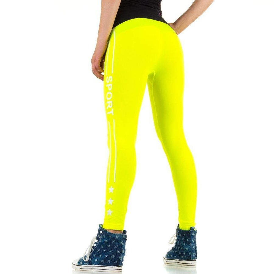 Damen Leggings von Best Fashion Gr. one size - neonyellow