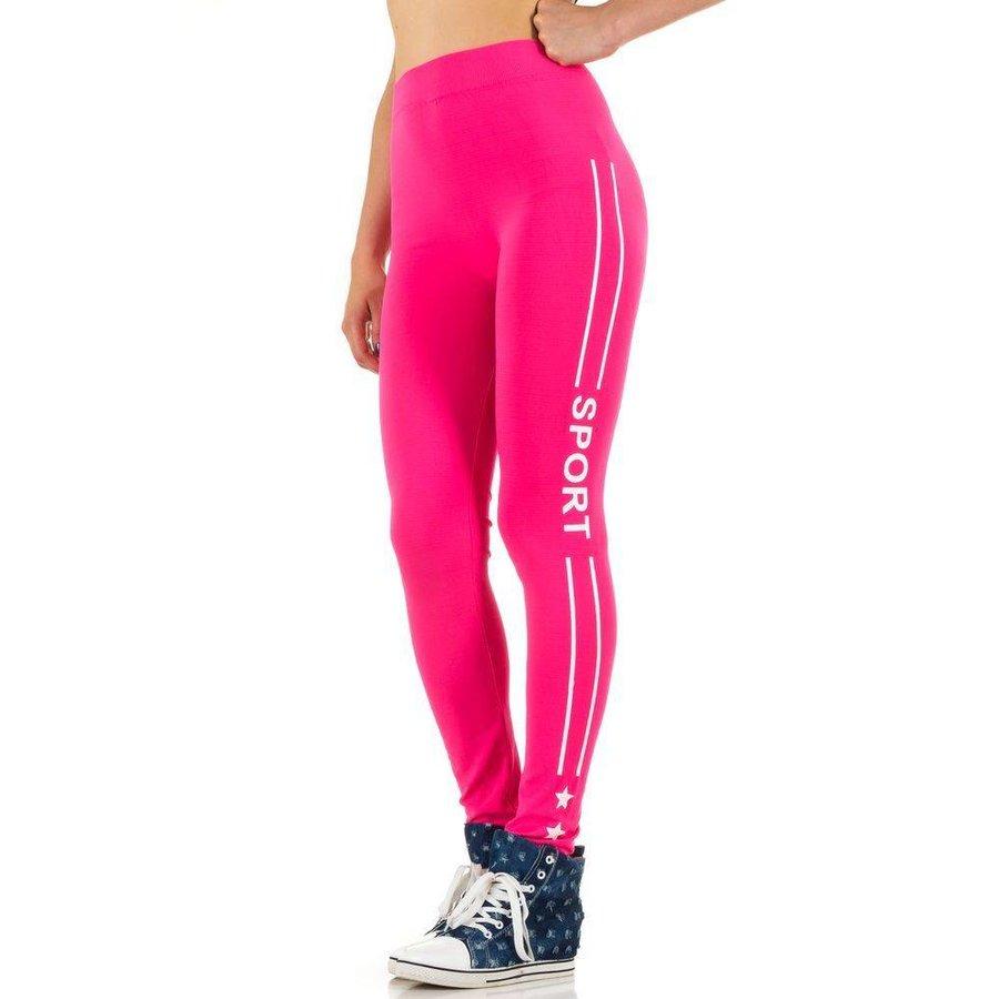 Damen Leggings von Best Fashion Gr. one size - neonpink