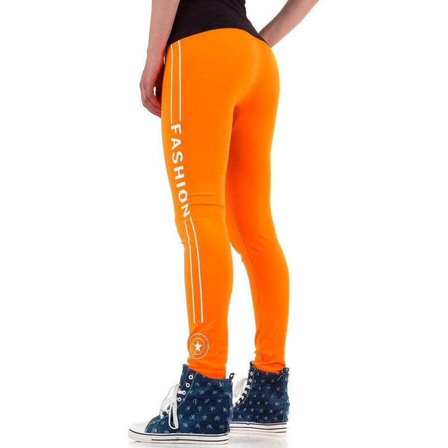 Damen Leggings von Best Fashion Gr. one size - neonorange