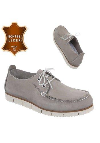 Neckermann Chaussures en cuir pour hommes - Gris