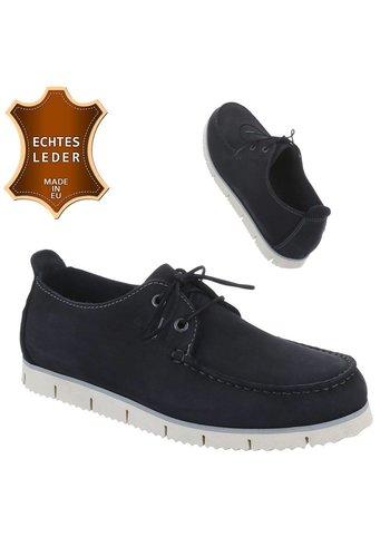 Neckermann Chaussures en cuir pour hommes - Noir
