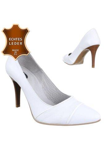 DINAGO SHOES Damen Leder High Heels - white