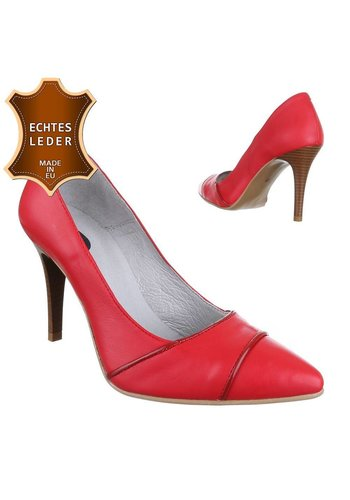DINAGO SHOES Damen Leder High Heels - red