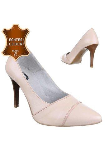 DINAGO SHOES Damen Leder High Heels - nude