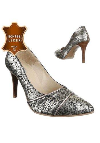 DINAGO SHOES Damen Leder High Heels - black