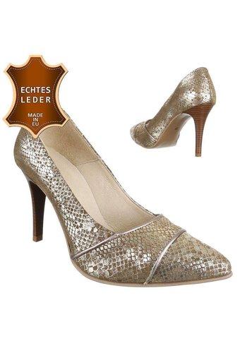 DINAGO SHOES Damen Leder High Heels - bege
