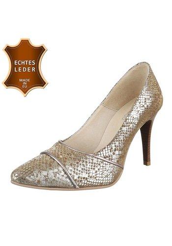 DINAGO SHOES Damen Pumps - beige Leder