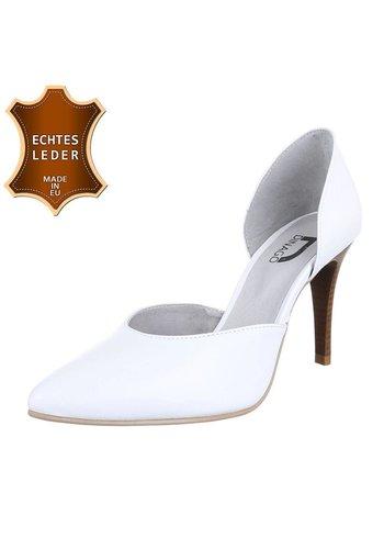 DINAGO SHOES Damen Pumps - weißes Leder