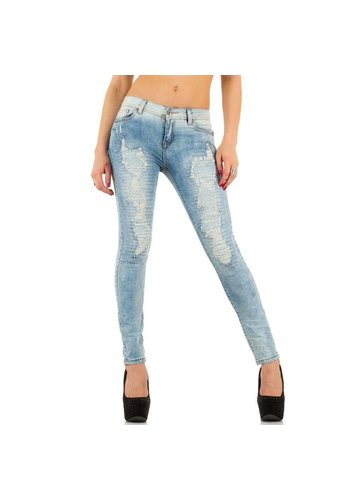 HELLO MISS Dames Jeans van Hello Miss - licht blauw