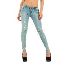 Dames Jeans van Adoro Denim - licht blauw