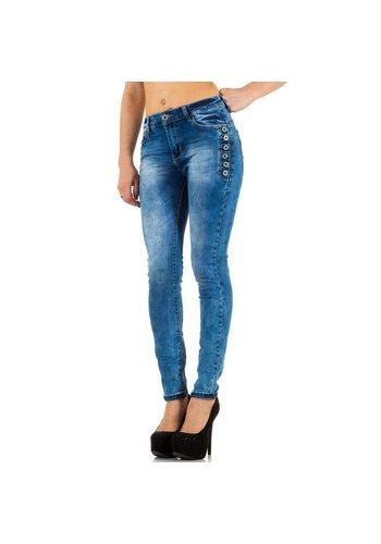 HELLO MISS Damen Fräulein Jeans - Blau