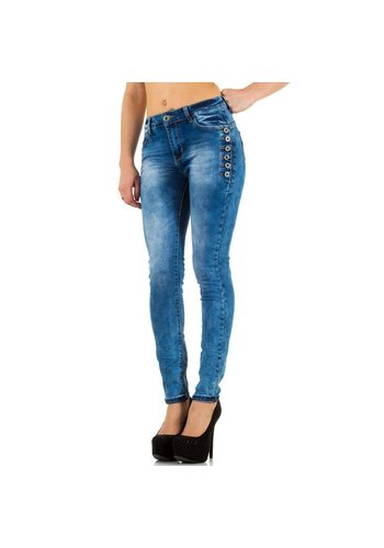 HELLO MISS Dames Jeans van Hello Miss - blauw