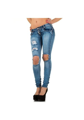 GIRL VIVI Dames Jeans van Girl Vivi - blauw