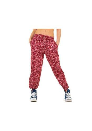 Best Fashion Dames broek van Best Fashion - rood