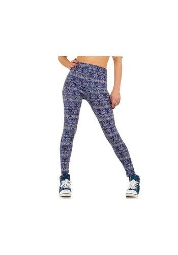 Best Fashion Damen Leggings von Best Fashion Gr. one size - blue