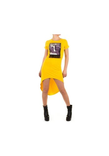 SHK MODE Damen Kleid von Shk Mode - yellow