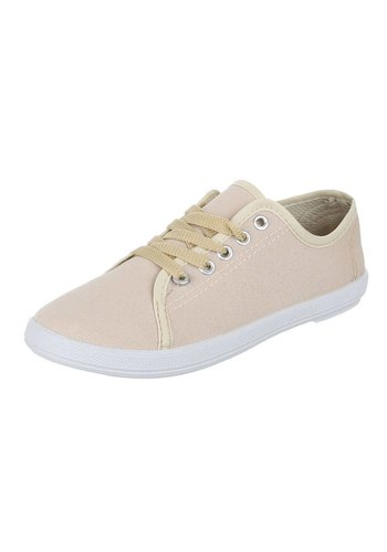 JUSTINE SHOES Dames Sneakers Zand