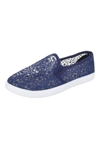 JUSTINE SHOES Dames Instappers Navy