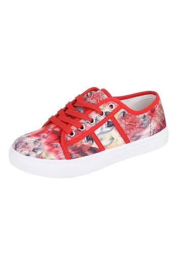 LADY Dames Sneakers Rood