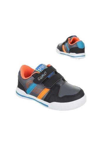 COMET Kinder sportschoenen - grijs oranje
